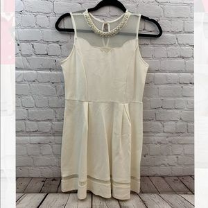 Monteau girls beige dress size 16 new